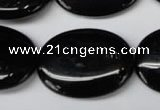 CON37 15.5 inches 22*30mm oval black onyx gemstone beads