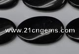 CON59 15.5 inches 18*30mm twisted oval black onyx gemstone beads