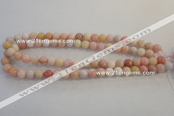 COP1062 15.5 inches 10mm round natural pink opal gemstone beads