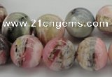 COP1255 15.5 inches 14mm round natural pink opal gemstone beads