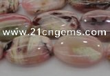 COP1274 15.5 inches 12*16mm oval natural pink opal gemstone beads