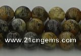 COP1382 15.5 inches 8mm round moss opal gemstone beads whholesale