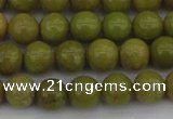 COP1401 15.5 inches 6mm round yellow opal gemstone beads