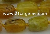 COP1423 15.5 inches 15*20mm drum yellow opal gemstone beads