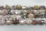 COP1495 12*16mm - 13*18mm faceted octagonal natural pink opal beads