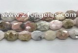 COP1496 18*25mm - 20*28mm faceted octagonal natural pink opal beads