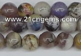 COP1512 15.5 inches 8mm round amethyst sage opal beads wholesale