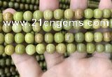 COP1574 15.5 inches 8mm round Australia olive green opal beads