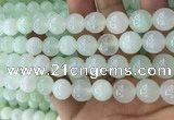 COP1638 15.5 inches 12mm round natural green opal beads