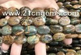 COP1653 15.5 inches 13*18mm oval green opal gemstone beads