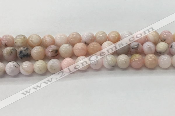 COP1703 15.5 inches 8mm round natural pink opal gemstone beads