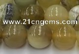 COP1737 15.5 inches 10mm round yellow opal beads wholesale