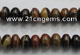 COP201 15.5 inches 6*10mm rondelle natural brown opal gemstone beads