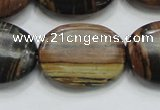COP217 15.5 inches 22*30mm oval natural brown opal gemstone beads