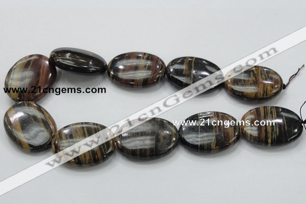 COP235 15.5 inches 30*40mm oval natural brown opal gemstone beads