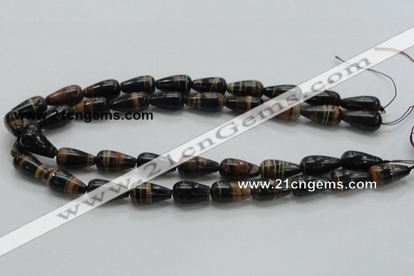 COP238 15.5 inches 10*20mm teardrop natural brown opal gemstone beads