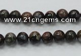 COP265 15.5 inches 8mm round natural grey opal gemstone beads