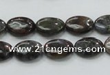 COP269 15.5 inches 10*14mm oval natural grey opal gemstone beads