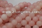 COP403 15.5 inches 8mm round Chinese pink opal gemstone beads
