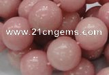 COP407 15.5 inches 18mm round Chinese pink opal gemstone beads