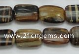 COP432 15.5 inches 13*18mm rectangle natural brown opal gemstone beads