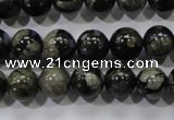 COP454 15.5 inches 10mm round natural grey opal gemstone beads