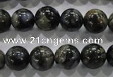 COP455 15.5 inches 12mm round natural grey opal gemstone beads