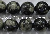 COP457 15.5 inches 16mm round natural grey opal gemstone beads