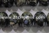 COP479 15.5 inches 15*20mm faceted rondelle natural grey opal beads