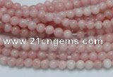 COP50 15.5 inches 4mm round natural pink opal gemstone beads