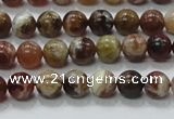 COP501 15.5 inches 8mm round natural red opal gemstone beads