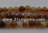 COP508 15.5 inches 4mm round natural red opal gemstone beads