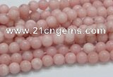COP51 15.5 inches 5mm round natural pink opal gemstone beads