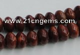COP520 15.5 inches 7*12mm rondelle red opal gemstone beads wholesale