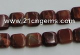 COP525 15.5 inches 10*10mm square red opal gemstone beads wholesale