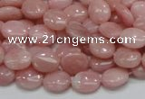 COP62 15.5 inches 8*10mm oval natural pink opal gemstone beads
