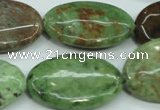 COP680 15.5 inches 20*30mm oval green opal gemstone beads