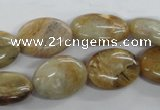 COP706 15.5 inches 13*18mm oval wooden opal gemstone beads