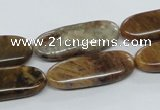 COP708 15.5 inches 10*28mm oval wooden opal gemstone beads