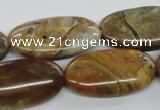 COP709 15.5 inches 15*30mm oval wooden opal gemstone beads