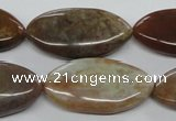 COP712 15.5 inches 15*30mm marquise wooden opal gemstone beads