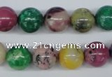 COP855 15.5 inches 12mm round dyed African opal gemstone beads