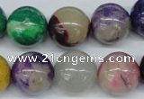 COP857 15.5 inches 16mm round dyed African opal gemstone beads