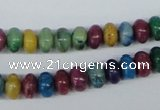 COP862 15.5 inches 5*8mm rondelle dyed African opal gemstone beads