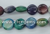 COP873 15.5 inches 12mm flat round dyed African opal gemstone beads