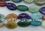 COP874 15.5 inches 10*15mm marquise dyed African opal gemstone beads