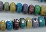 COP879 15.5 inches 7*12mm rondelle dyed African opal gemstone beads