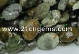 COS04 15.5 inches 10*14mm oval ocean stone beads wholesale