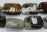 COS22 15.5 inches 15*20mm rectangle ocean stone beads wholesale