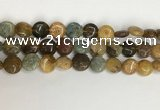 COS244 15.5 inches 12mm flat round ocean stone beads wholesale